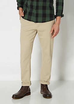 Tan Slim Stretch Chino