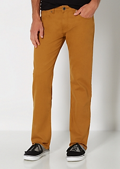 Camel Slim Straight Pant
