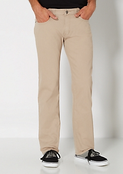Khaki Slim Straight Pant