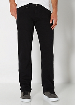 Black Slim Straight Pant