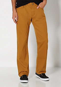 Camel Twill Boot Pant