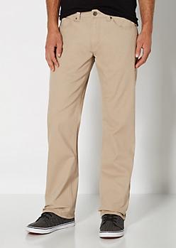 Khaki Twill Boot Pant