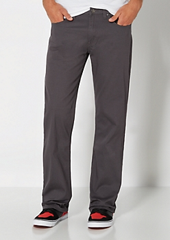 Charcoal Gray Twill Boot Pant