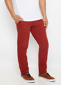 Freedom Flex Burgundy Chino