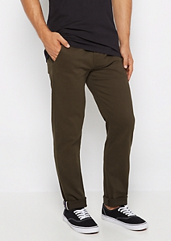 Flex Dark Green Chino Pant