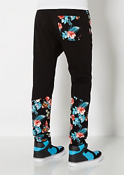 Hibiscus Paneled Jogger