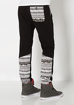 Gusseted Aztec Jogger