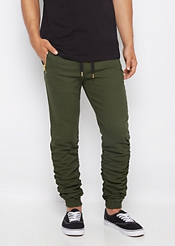 Dark Green Scrunched Jogger