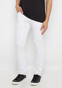 Flex White Super Skinny Pant