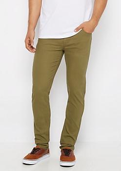 Flex Olive Green Super Skinny Pant