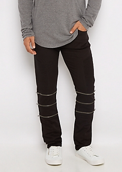 Black Flex Moto Skinny Pant