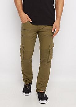 Flex Cargo Moto Skinny Pant
