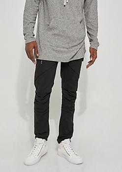 Black Flex Cargo Skinny Pants