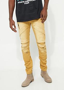 Flex Camel Pocket Flap Skinny Jeans