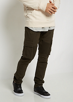 Distressed Moto Cargo Pant
