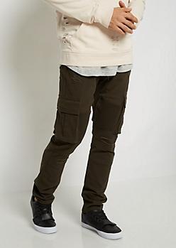 Distressed Moto Cargo Pant