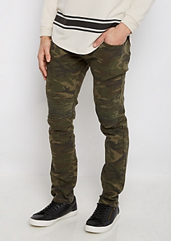 Flex Camo Moto Skinny Pant