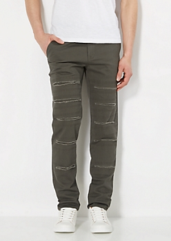 Freedom Flex Gray Slit Slim Pant