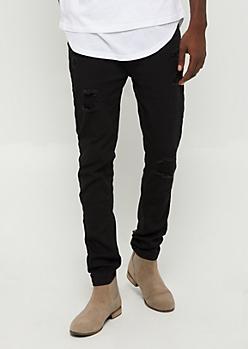 Flex Black Ripped Skinny Jean