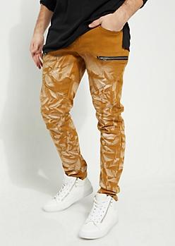 Camel Baking Diagonal Moto Flex Skinny Pants