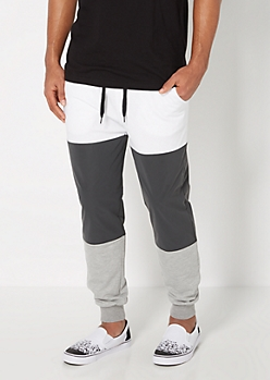 Reflective Color Block Jogger