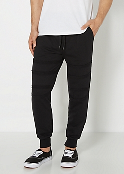 Paneled Terry Knit Jogger