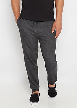 Black Marled Tech Jogger
