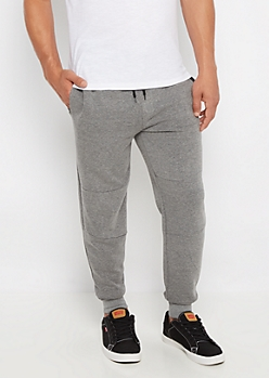 Gray Marled Tech Jogger