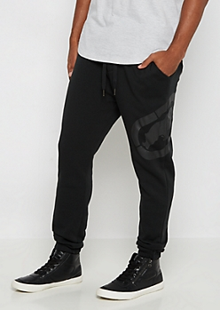 Ecko Unltd.® Black On Black Fleece Jogger