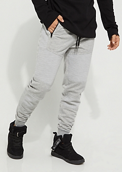 Black Embossed Moto Soft Jogger