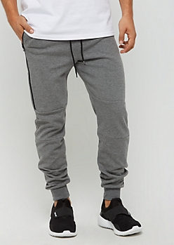 Heather Gray Zipped Fleece Jogger by Caliber