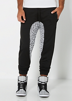 Geo Gusset Knit Jogger