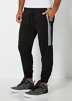 Black Reflective Knit Jogger