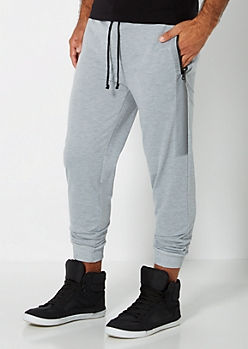 Heather Grey Reflective Knit Jogger