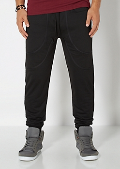 Zipped Up Knit Jogger