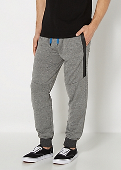 Charcoal Marled Side Panel Jogger