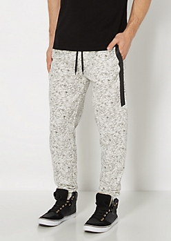 White Space Dyed Side Panel Jogger