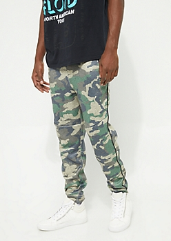 Camo Piped Marled Soft Joggers