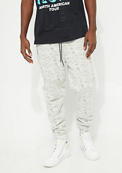 Oatmeal Sherpa Lined Knit Joggers
