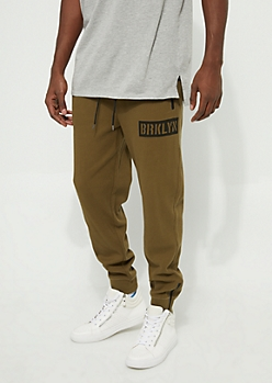 Brklyn Olive Thermal Knit Jogger