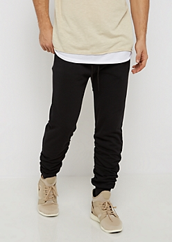 Black Ruched Jogger