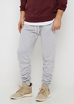 Heather Gray Ruched Jogger