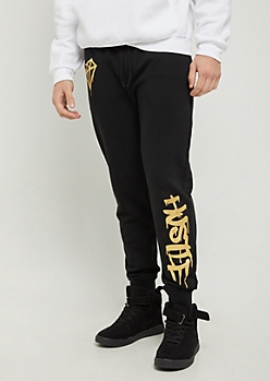 Black Hustle Foiled Jogger