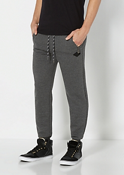 Charcoal Quilted Knit Jogger
