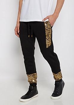 Gold Foil Tribal Jogger
