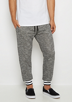 Marled Striped Cuff Jogger