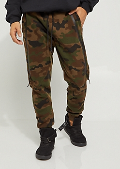 Camo Zipped Fleece Jogger