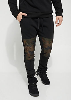 Camo Nylon Blocked Jogger