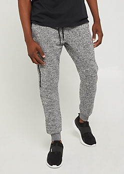 Charcoal Gray Zipped Fleece Jogger