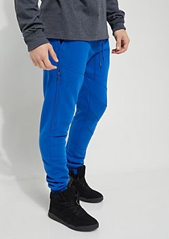 Royal Blue Zipped Fleece Jogger